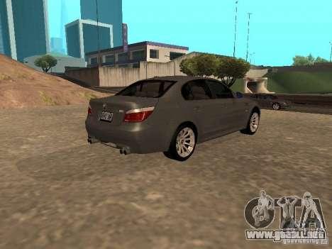 BMW M5 E60 2009 v2 para GTA San Andreas left