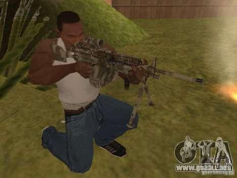Ametralladora MK-48 para GTA San Andreas segunda pantalla