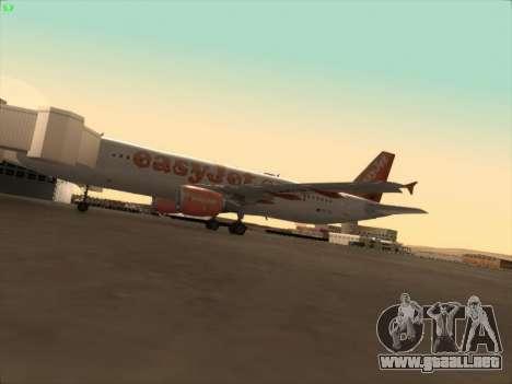 Airbus A320-214 EasyJet para la vista superior GTA San Andreas