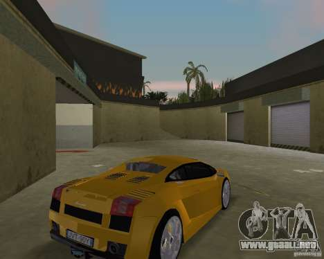 Lamborghini Gallardo v.2 para GTA Vice City visión correcta