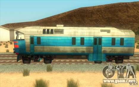 Un tren del juego Half-Life 2 para GTA San Andreas vista posterior izquierda