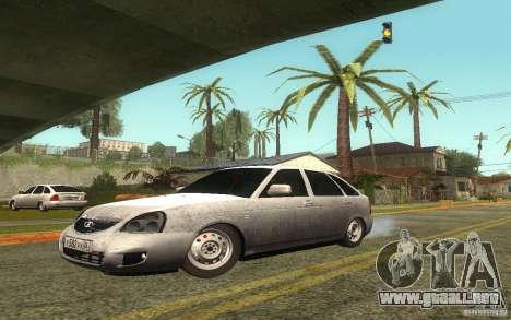 Lada Priora 2172 Hatchback para vista lateral GTA San Andreas