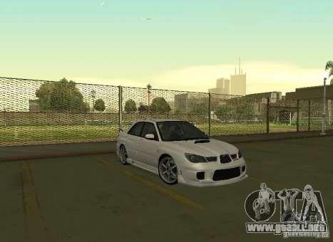 Subaru Impreza WRX STI-Street Racing para vista lateral GTA San Andreas