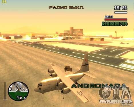 C-130 hercules para la visión correcta GTA San Andreas