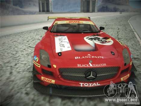 Mercedes-Benz SLS AMG GT3 Black Falcon 2011 para GTA San Andreas left