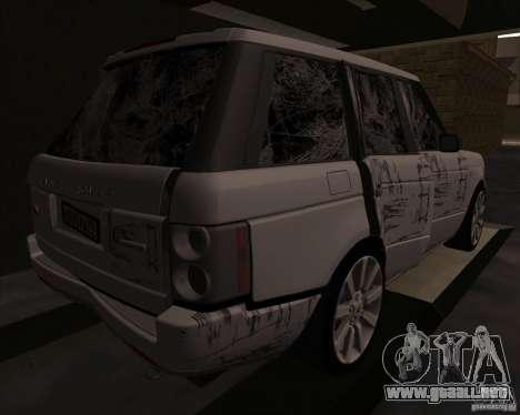 Land Rover Range Rover Supercharged para visión interna GTA San Andreas