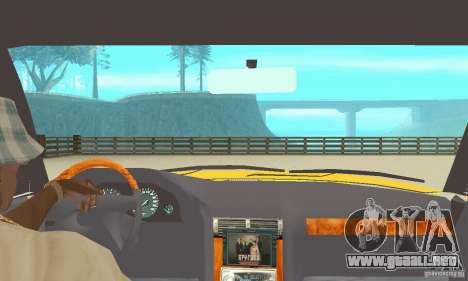 BMW 750I E32 para GTA San Andreas vista hacia atrás