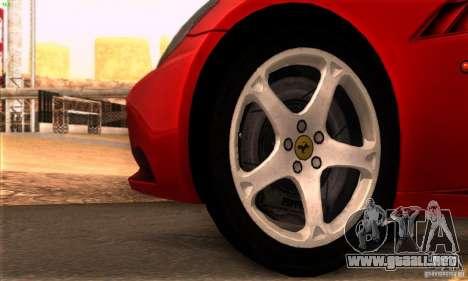 Ferrari California V3 para visión interna GTA San Andreas