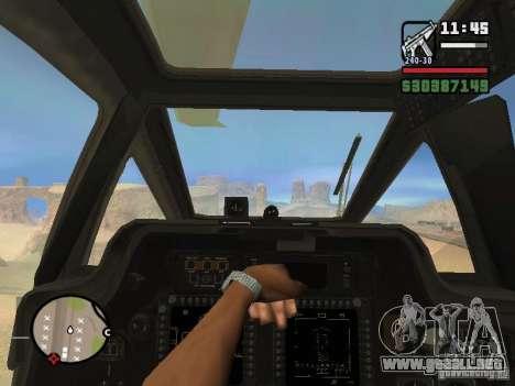 AH-64D Longbow Apache para GTA San Andreas left