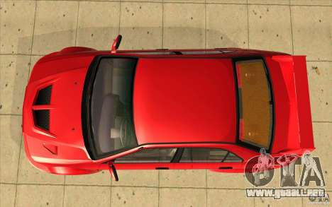 Mitsubishi Lancer Evo 6 para la visión correcta GTA San Andreas