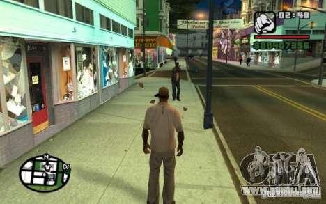 Tirar de los transeúntes por basura para GTA San Andreas segunda pantalla