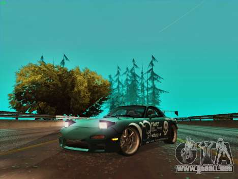 Mazda RX7 rEACT para GTA San Andreas left