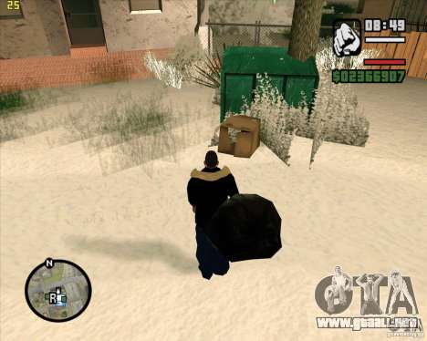 Hacer basura para GTA San Andreas sucesivamente de pantalla