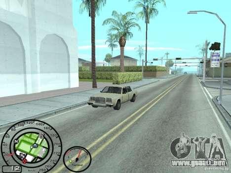 Velocímetro con el indicador de combustible para GTA San Andreas segunda pantalla