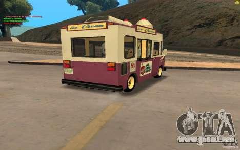 Chevrolet Forvard Control 20 Ice Cream para GTA San Andreas left