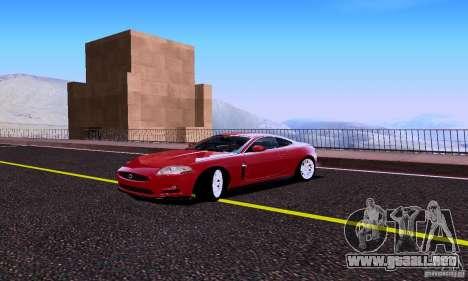 Jaguar XKRS para GTA San Andreas vista hacia atrás