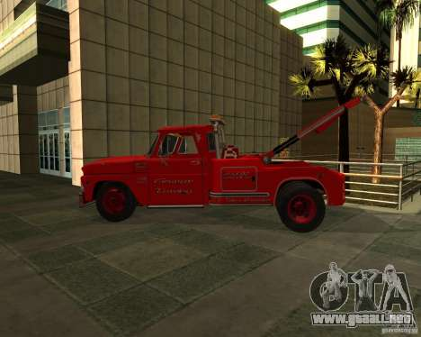 Chevrolet C20 Towtruck 1966 para GTA San Andreas left