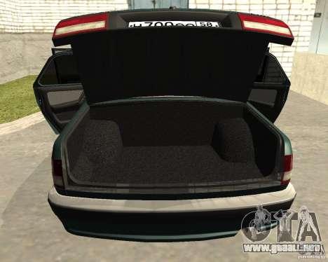 Volga GAZ 3110 para visión interna GTA San Andreas