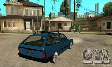 VW Parati GLS 1989 JHAcker edition para la visión correcta GTA San Andreas