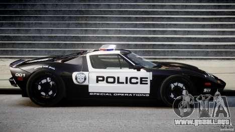 Ford GT1000 Hennessey Police 2006 [EPM][ELS] para GTA 4 vista interior
