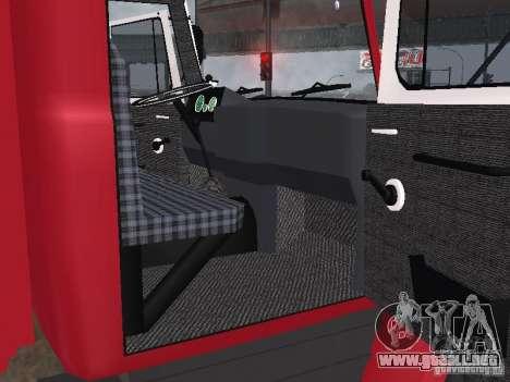 GAZ 3309 fuego para GTA San Andreas vista hacia atrás