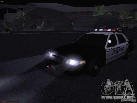 Ford Crown Victoria Police 2003 para vista lateral GTA San Andreas