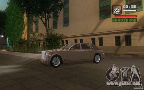 Rolls-Royce Phantom EWB para visión interna GTA San Andreas