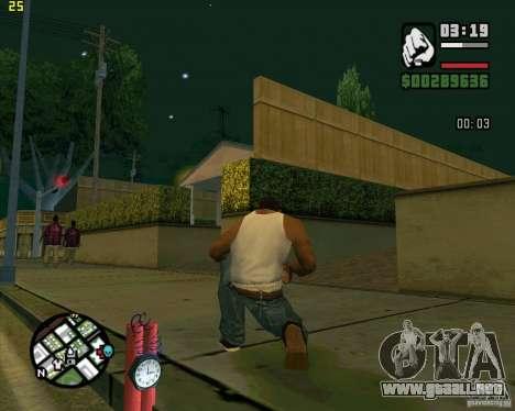 Dinamita para GTA San Andreas sucesivamente de pantalla