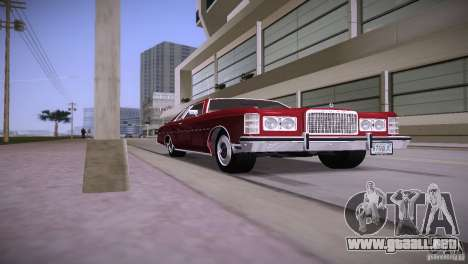Ford LTD Brougham Coupe para GTA Vice City vista lateral izquierdo