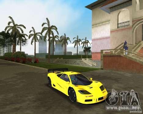 McLaren F1 LM para GTA Vice City visión correcta