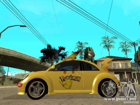 Volkswagen Beetle Pokemon para GTA San Andreas left