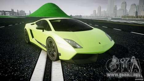 Lamborghini Gallardo LP570-4 Superleggera 2010 para GTA 4 vista hacia atrás