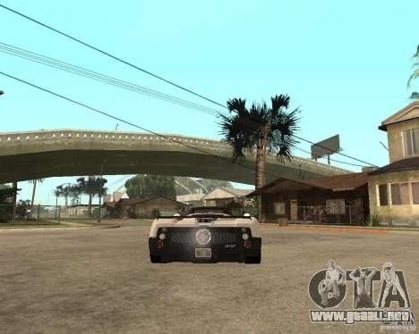 Pagani Zonda F para GTA San Andreas left