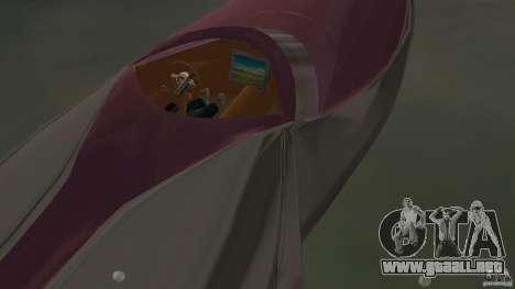 Bugatti Sang Bleu Speedboat para GTA Vice City vista posterior