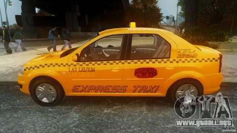 Dacia Logan Facelift Taxi para GTA 4 left