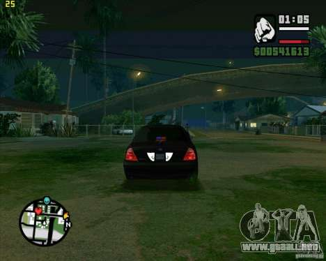 Ford Crown Victoria FBI para la visión correcta GTA San Andreas