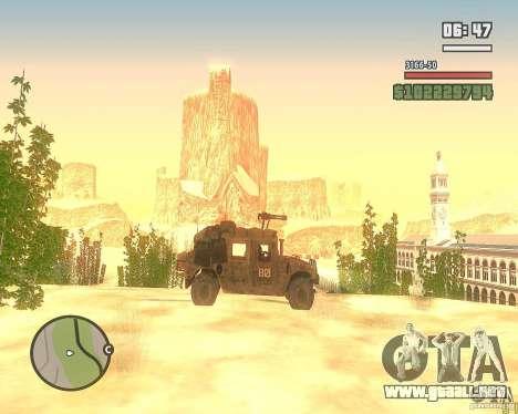 Hummer H1 de COD MW 2 para visión interna GTA San Andreas