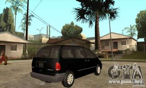 Dodge Caravan 1996 para la visión correcta GTA San Andreas