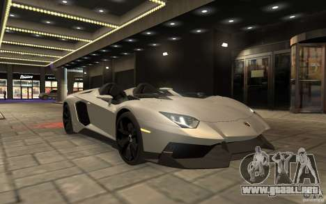 Lamborghini Aventador J para GTA 4 visión correcta
