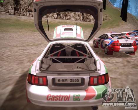 Toyota Celica ST-205 GT-Four Rally para GTA San Andreas vista hacia atrás