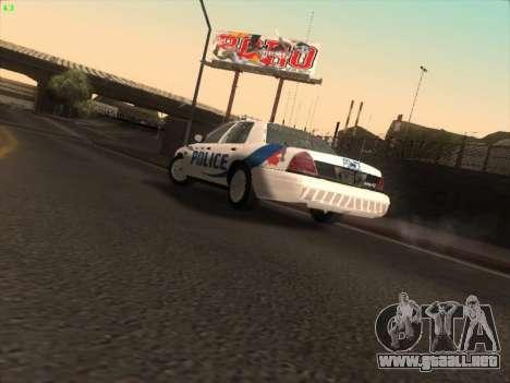 Ford Crown Victoria Vancouver Police para visión interna GTA San Andreas