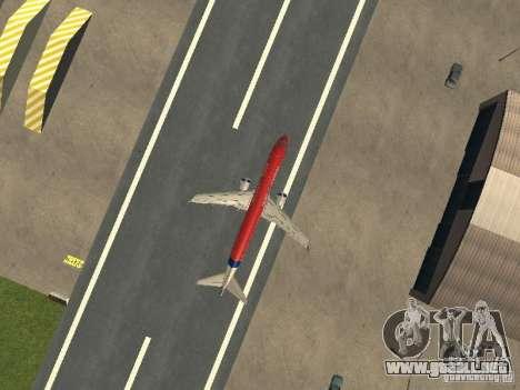 Embraer ERJ 190 Virgin Blue para GTA San Andreas vista hacia atrás
