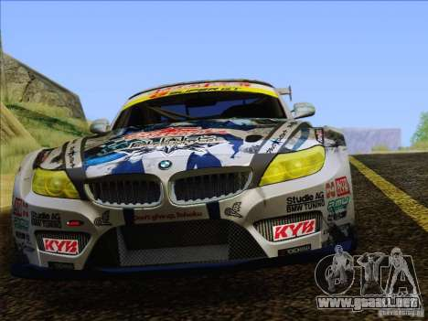 BMW Z4 E89 GT3 2010 Final para GTA San Andreas interior