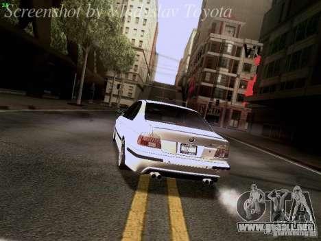 BMW E39 M5 2004 para las ruedas de GTA San Andreas