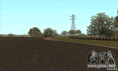 GOKART pista ruta 2 para GTA San Andreas sexta pantalla
