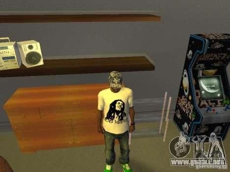Camiseta de Bob Marley para GTA San Andreas