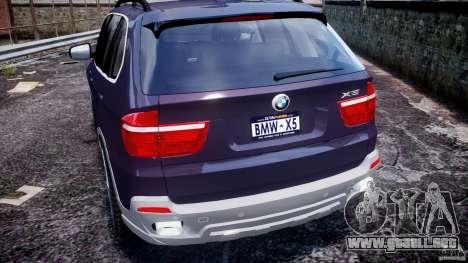 BMW X5 xDrive 4.8i 2009 v1.1 para GTA 4 vista desde abajo