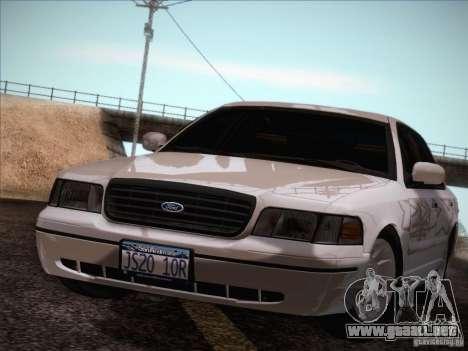 Ford Crown Victoria Interceptor para visión interna GTA San Andreas