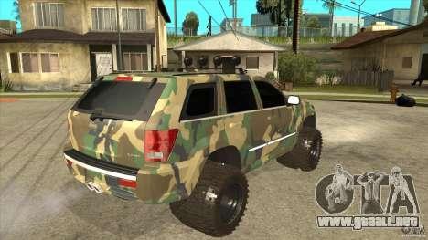 Jeep Grand Cherokee SRT8 Camo para la visión correcta GTA San Andreas