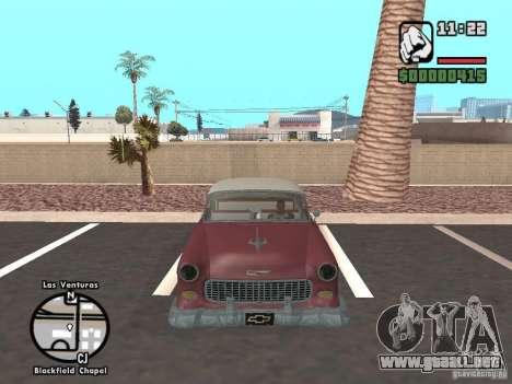 1955 Chevy Belair Sports Coupe para la visión correcta GTA San Andreas